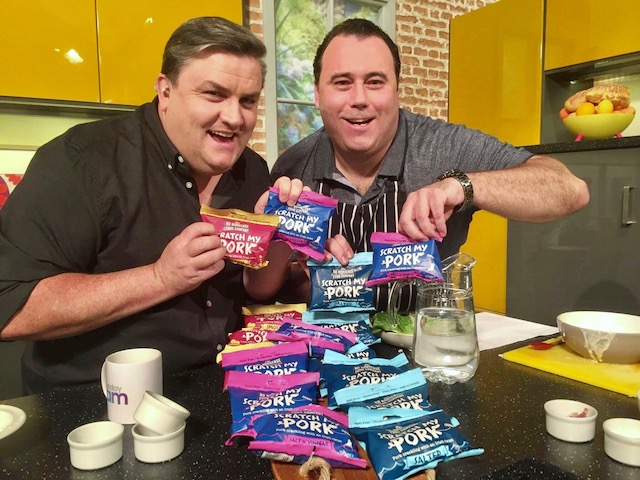Simon Delaney and Chef Dean Diplock on Sunday AM TV3