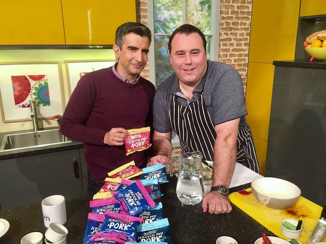 Tom and Chef Dean Diplock on Sunday AM TV3