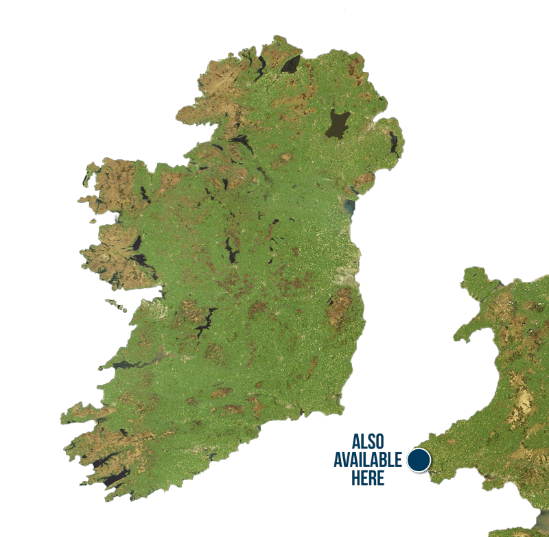 Map of Ireland with Scratch My Pork locations