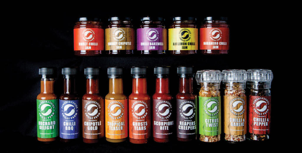 Pembrokeshire Chilli Products Range