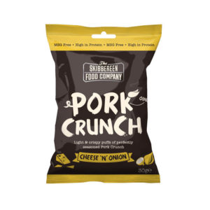 Pork Crunch Cheese & Onion - Front of packaging