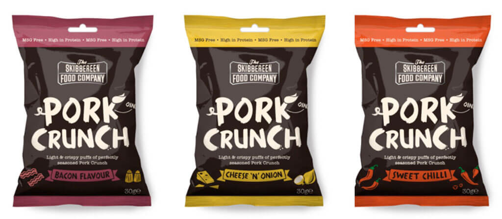 The Skibbereen Food Company Matthew Brownie (The Kiwi Culchie) Releases a New Pork Crunch Snack Range